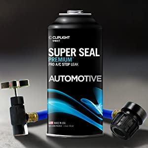 Cliplight Super Seal Premium 946KIT A/C Stop Leak - Permanently Seals & Prevents Leaks in Auto A/C Systems