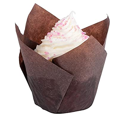 "GAM Tulip Baking Caps / Cupcake liners,100/pack,2-3/4"" Large for muffin."