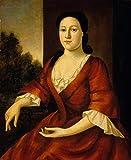Art Prints On Canvas (12 X 15 Inch): Portrait Of Mrs. John Greenleaf (Ac 201511750 1215)