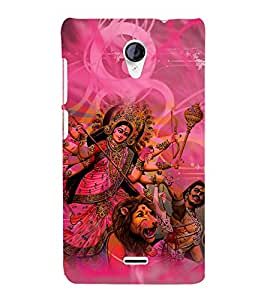 Durga Maa 3D Hard Polycarbonate Designer Back Case Cover for Micromax Canvas Unite 2 A106