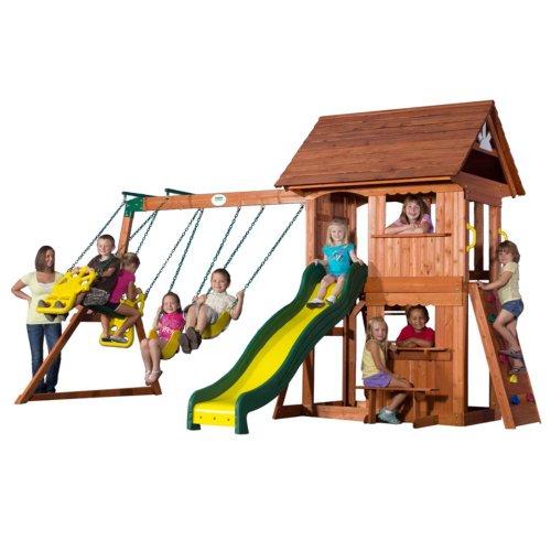 Backyard Discovery Alpine Wood Swing Set front-885092