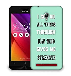 Snoogg Him Who Gives Me Strength Quote Designer Protective Back Case Cover For HTC one A9