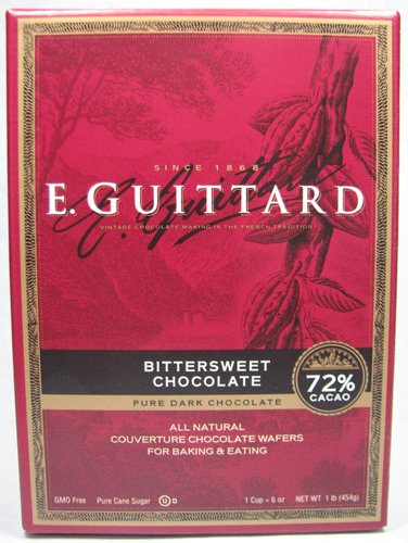 E.  Guittard 72% Bittersweet Chocolate Couverture Wafers, 1 Pound,  (Pack of 2)