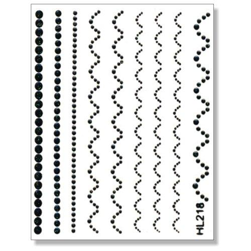 3D Sticker Borten schwarz 203-02 selbstklebende 3D-Borten