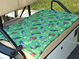 51m2iIPoCYL. SL160  Golf Cart Seat Cover, Green Golf Bag Print