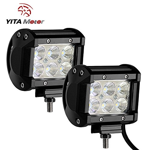 YITAMOTOR 2 X 18W FLOOD LED Light Work Driving Fog Offroad SUV 4WD Car Truck US (18w Led Driving Lights compare prices)