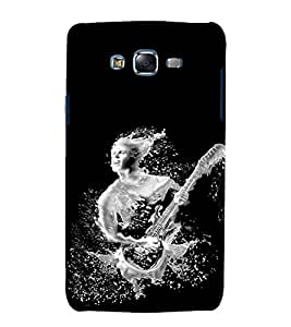 Fuson Premium Back Case Cover Man with Guitar With Multi Background Degined For Samsung Galaxy Grand Neo Plus::Samsung Galaxy Grand Neo Plus i9060i