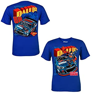 NASCAR Dale Earnhardt Jr. #88 National Guard Superman Blue Adult Tee Shirt by NASCAR