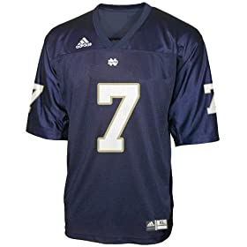 Notre Dame Fighting Irish #7 Adidas Navy Youth Football Jersey
