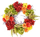Daisy Silk Spring And Fall Front Door Wreath (24 Inch)