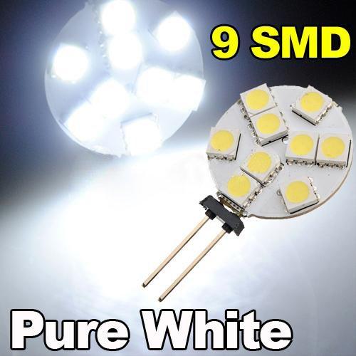 TOOGOO(R) G4 5050 SMD 9 LED-Licht reinweiss Start Automeeres Gluehbirne fuer Boote