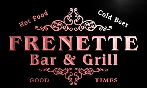 u15330-r FRENETTE Family Name Gift Bar & Grill Home Beer Neon Light Sign Enseigne Lumineuse