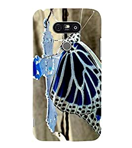 Vizagbeats butterfly on cross Back Case Cover for LG G5