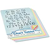 """Pacon 74733 Colored Chart Tablet, Ruled, Spiralbound, 24"""" x 32"""", Assorted Colors"""