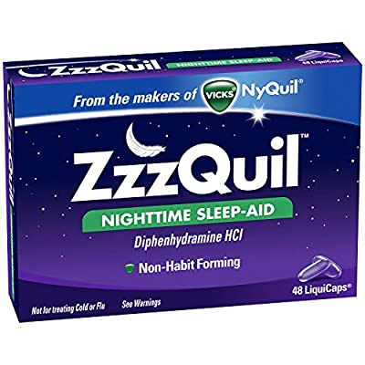 Zzzquil Nighttime Sleep Aid Liquicaps 48 Count TEJ