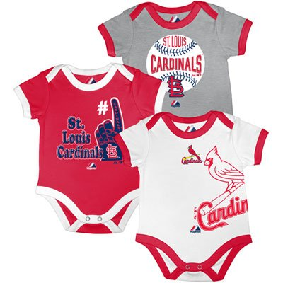 St. Louis Cardinals Infant Bases Loaded 3 Piece Creeper Set 18 Months at Amazon.com