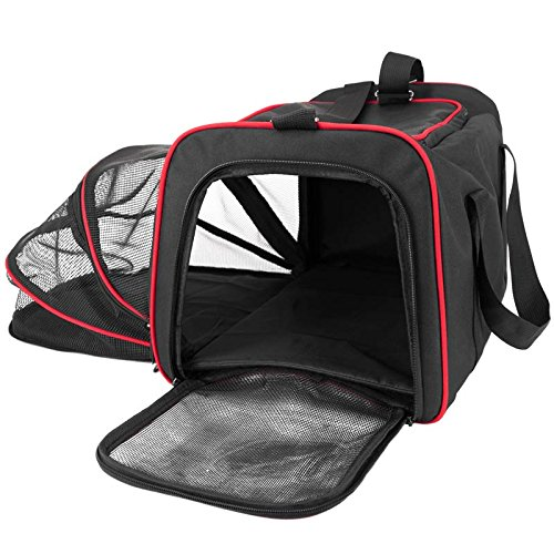 Frontpet Expandable Pet Carrier. Airline Approved Spacious Comfortable Durable Soft Sided Carrier
