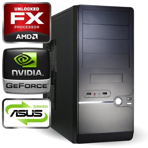 computerwerk - Gaming Komplett PC Tucana C - 4x 3.6 GHz AMD FX-4100, ASUS M5A78L-M LX , 8 GB [2x 4GB] DDR3-1333, 500 GB S-ATAIII, 22-fach Dual Layer DVD±RW, 2048 MB GeForce GT640, Starter 4, Silent Super Power 650 W