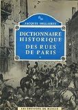 """Afficher """"Dictionnaire historique des rues de Paris.2, :  L - Z"""""""