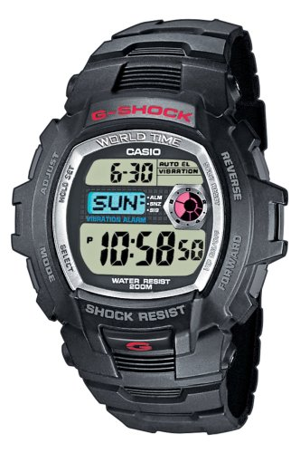 Casio G-7500-1VER G-Shock Gents Black Rubber Strap Digital Sports Watch