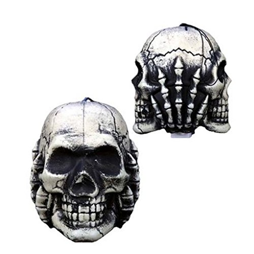 "Halloween Skull Fancy Glowing Props 6.7""X 5.7"" front-1076029"