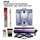 SPL Horticulture 600 Watt Grow Light Digital Dimmable HPS Mh System for Plants Double Ended 6