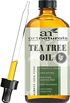 Art Naturals Tea Tree Essential Oil Pure & Natural 4 Oz Premium Melaleuca Therapeutic Grade From Australia, Use With Soap & Shampoo, Face & Body Wash, Treatment for Acne, Lice & Many Skin Conditions ¡