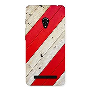AJAY ENTERPRISES Extant Red Woodish Pattern Back Case Cover for Zenfone 5