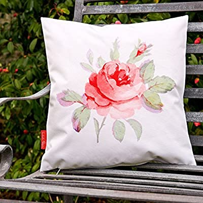 Garten Kissen Vintage Rose Motiv wasserfest von Izabela Peters bei Gartenmöbel von Du und Dein Garten
