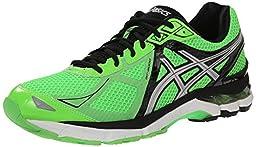 ASICS Men\'s GT 2000 3 Running Shoe, Green Gecko/Silver/Black, 13 M US