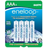 eneloop NEW 800 mAh Typical, 750 mAh Minimum, 1500 cycle, 4 pack AAA, Ni-MH Pre-Charged Rechargeable Batteries