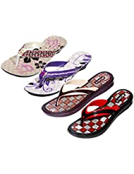 Krocs Super Comfortable Combo Pack Of 2 Pair Flip Flop With 2 Pair Slippers For Women (Pack Of 4 Pair) - B01JS6U8NA