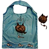 niceEshop(TM) Eco Shopping Bag Foldable Cat-Black