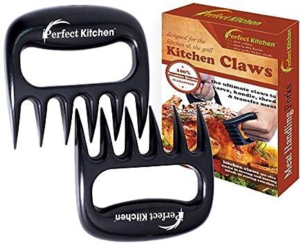 iPerfect Kitchen Meat Handling & Shredding Claws - Meat Handler Carving Forks - Set of 2 - Black