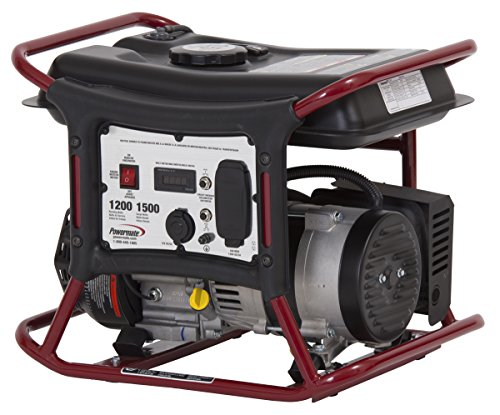 PowerMate Powermate PM0141200 Generator with Manual Start, 1200-watt