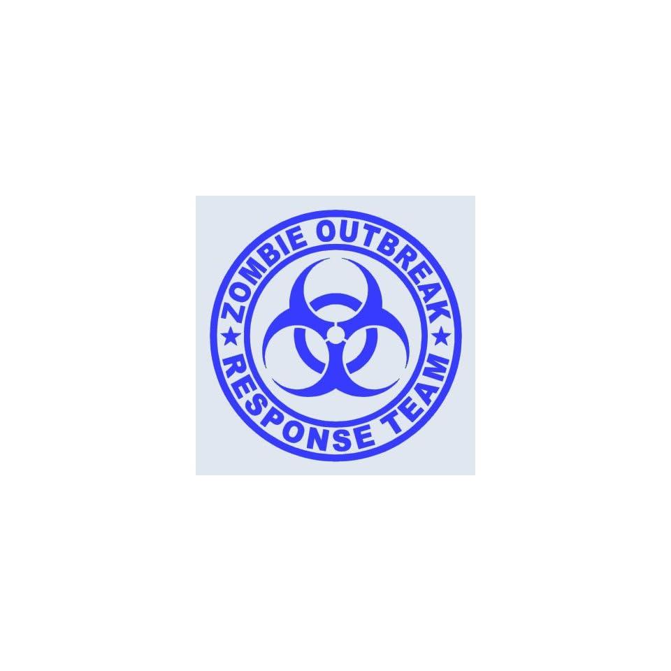 Zombie Outbreak Response Team BLUE 5 Die Cut Vinyl Decal Sticker