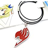New cosplay anime alloy stainless fairy tail Red necklace