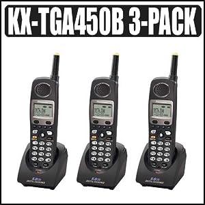 Amazon Com Panasonic Kx Tga450b 4 Line 5 8 Ghz Fhss