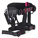 Climbing Harness, Oumers Safe Seat Belts For Mountaineering Outward Band Fire Rescue Working on the Higher Level Caving Rock Climbing Rappelling Equip, Women Man Child Half Body Guide Harness