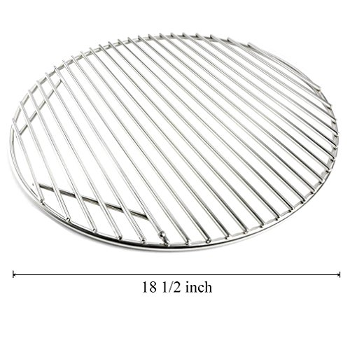Onlyfire Stainless Steel Round Grid Hinged Cooking Grate Replacement for Large Big Green Egg Kamado Joe Classic Char-Griller Barbecue Ceramic Grill and Smoker, 18 1/2 Inches (Big Green Egg Cooking Grid compare prices)