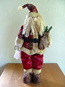 Christmas Plush Standing Red Santa Claus Ornament