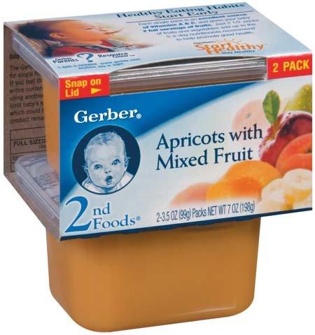 Fruit Juice Gerber 2nd Foods Baby Foods Sitter Apricots