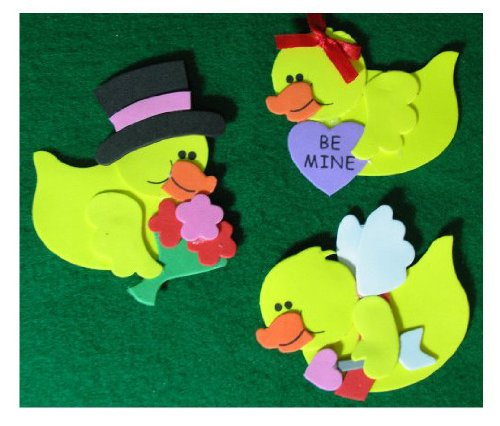 Valentine Rubber Ducky Magnet Craft Kit (2 Pieces) front-1034261