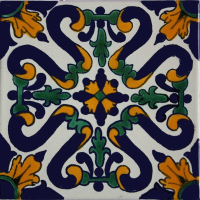 6x6 4 pcs Ures Talavera Mexican Tile