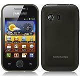 PrimaCase - Coque pour Samsung Galaxy Y S5360 en TPU Silicone Semi-Transparent - Noir