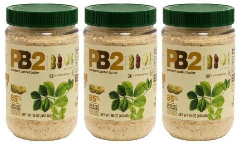 Bell Plantation PB2 Peanut Butter, 1 lb Jar 3-pack