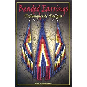 Vintage Star Pattern Beaded Earrings by Native American Indian Hasha