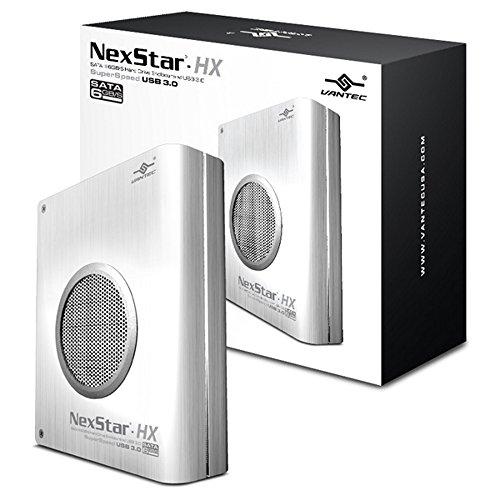 Vantec NexStar HX SATA III 6Gb/s Hard Drive Enclosure with USB 3.0, Silver (NST-386S3-SV) (Hard Drive Cooling compare prices)