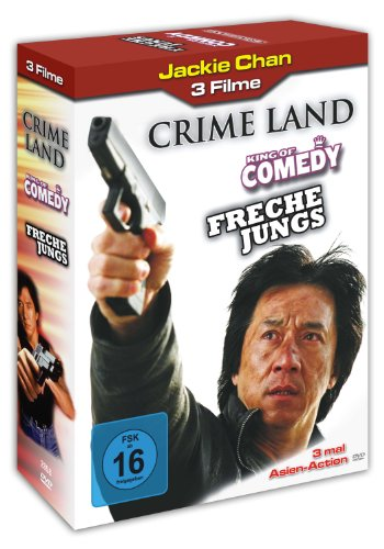 Jackie Chan Box : Crime Land - King Of Comedy - Freche Jungs - 3 DVD Box