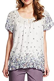 Floral Handkerchief Hem Blouse with Camisole [T66-9377-S]